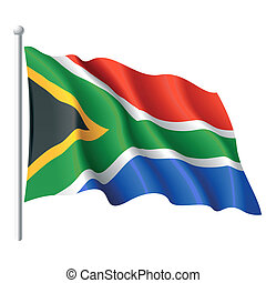 Flag of South Africa - Vector illustration of flag of South...