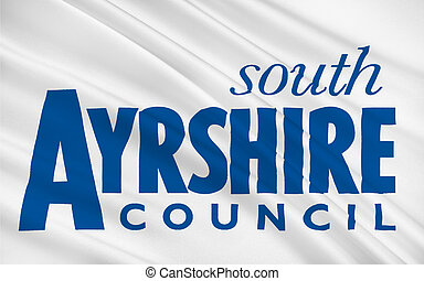 Flag of South Ayrshire is council areas of Scotland, United...