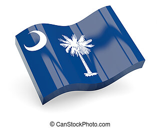 Flag of south carolina, US state wave icon