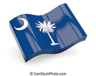 Flag of south carolina, US state wave icon