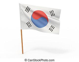 Flag of South Forea - Flag of South Korea. 3d