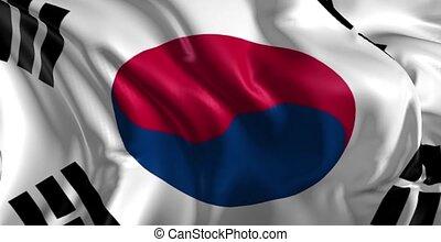 Flag Of South Korea - Beautiful 3d animation of South Korea...