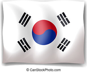 Flag of South Korea - Illustration of the flag of South...