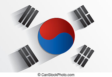 Flag of South Korea - Creative Abstract Flag of South Korea...