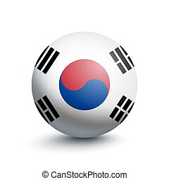 Flag of South Korea in the form of a ball
