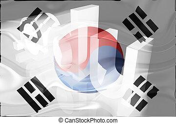 Flag of South Korea wavy education - Flag of South Korea,...