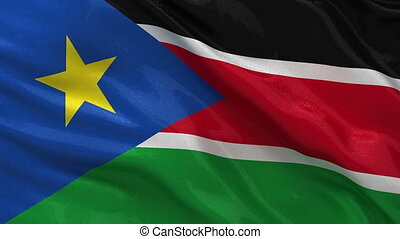 Flag of South Sudan seamless loop