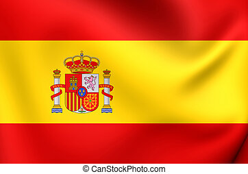 Flag of Spain. Close Up.