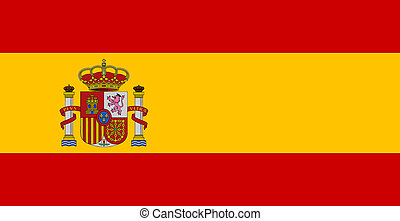 flag of Spain - color isolated vector illustration flag...