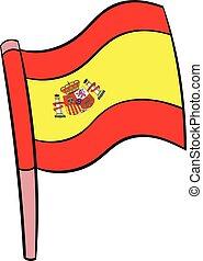 Flag of Spain icon cartoon