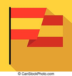 Flag of Spain icon, flat style