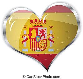 flag of Spain in heart shape