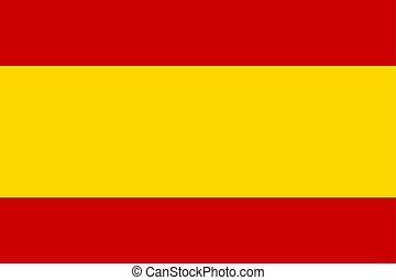 Flag of Spain in national colors and proportions, vector.