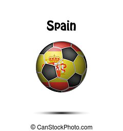 Flag of Spain in the form of a soccer ball
