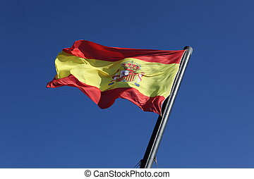 Flag of Spain, moving in the wind