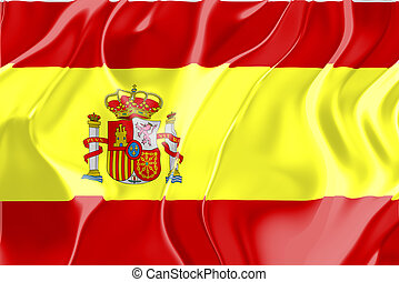 Flag of Spain, national country symbol illustration