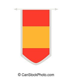 Flag of Spain on a banner