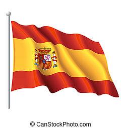 Vector detailed vector illustration of flag of Spain