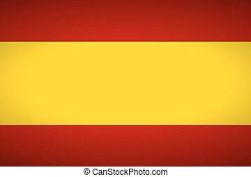 Flag of Spain. Vector illustration.