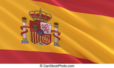 Flag of Spain waving in the wind