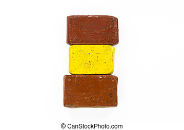 Flag of Spain with wax crayon