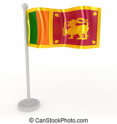 Flag of Sri Lanka - Illustration of a flag of Sri Lanka on a...