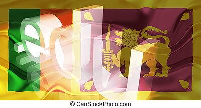 Flag of Sri Lanka wavy education - Flag of Sri Lanka,...