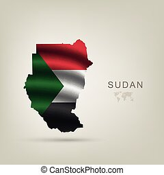 flag of Sudan as the country