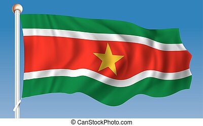 Flag of Suriname - vector illustration