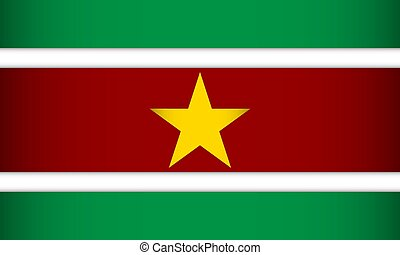 Flag of Suriname.