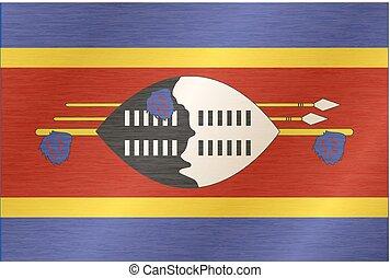 Flag of Swaziland. Illustration over white background