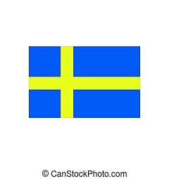 Flag of Sweden on a white background. Vector illustration