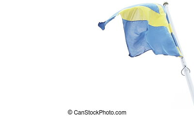 Flag of Sweden - Developing mast yacht flag Russia