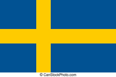 Swedish flag of Sweden - Proportions: 8:5 - Colours: Yellow NCS 0580-Y10R, Blue NCS 4055-R95B