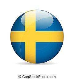 Flag of Sweden. Vector illustration.