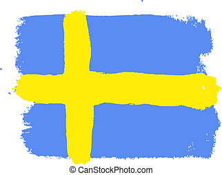 Flag of Sweden, vector illustration