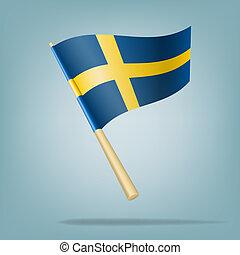 Flag of Sweden. vector illustration