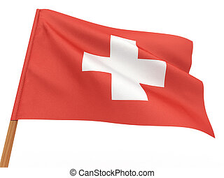 Flag of switzerland . 3d
