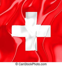 Flag of Switzerland, national country symbol illustration