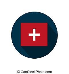 Flag of Switzerland on a white background. Vector illustration.