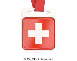 Flag of switzerland, square card