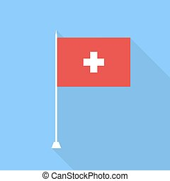 Flag of Switzerland. Vector illustration .