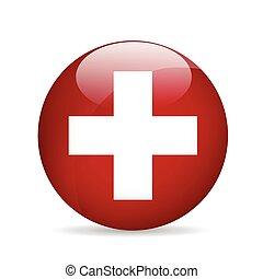 Flag of Switzerland. Vector illustration.
