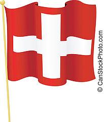 flag of  Switzerland. vector