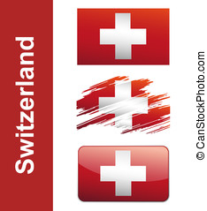 Flag Of Switzerlandin isolated on white background vector