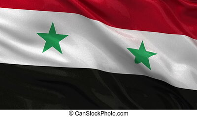 Flag of Syria - seamless loop - Flag of Syria gently waving...