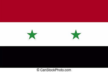 Flag of Syria.