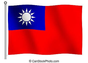 Flag of Taiwan Waving