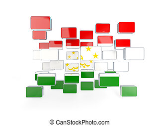 Flag of tajikistan, mosaic background