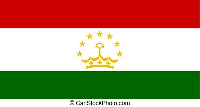 Flag of Tajikistan official colors and proportions